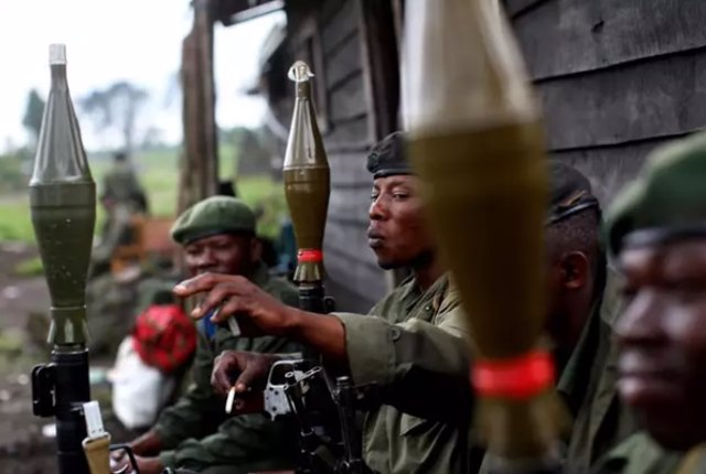 Archivo - Militares congoleños