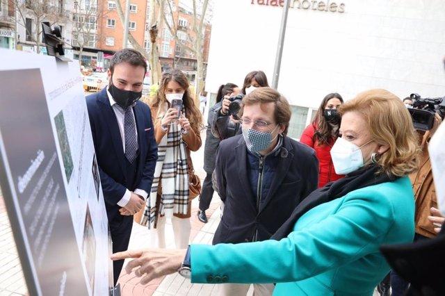 José Martínez-Almeida visita las obras del tramo de la calle Alcalá entre la M30 y Quintana