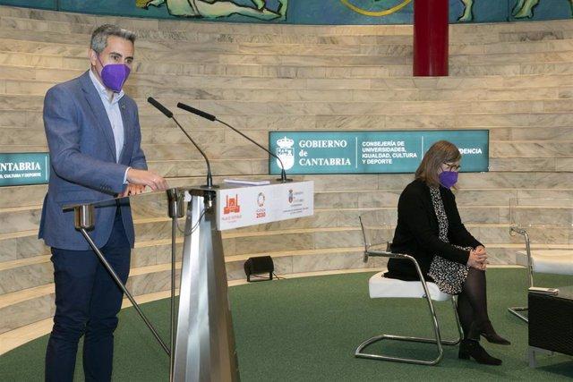 El vicepresidente de Cantabria y consejero de Universidades, Igualdad, Cultura y Deporte, Pablo Zuloaga, presenta los actos con motivo del 8M.