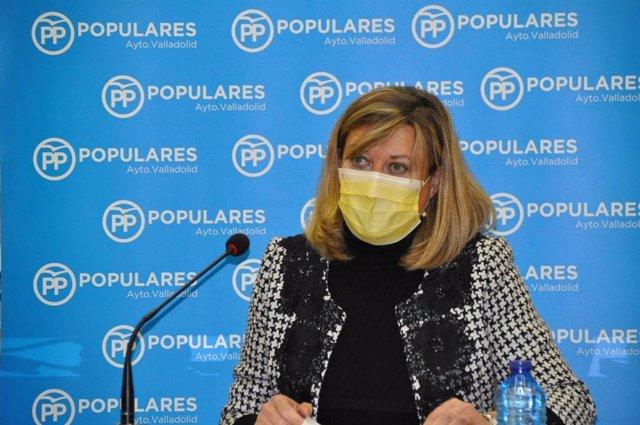 Archivo - La presidenta del Grupo Municipal Popular en el Ayuntamiento de Valladolid, Pilar del Olmo.