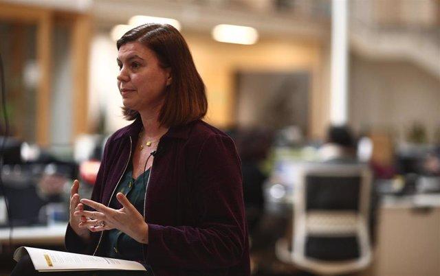 La directora de la Fundación Biodiversidad, Elena Pita durante una entrevista para Europa Press.