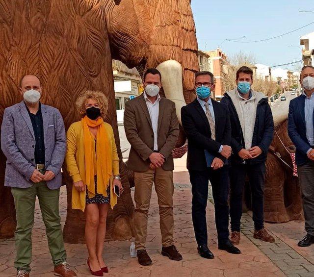 Visita del delegado provincial de Turismo a Padul (Granada)