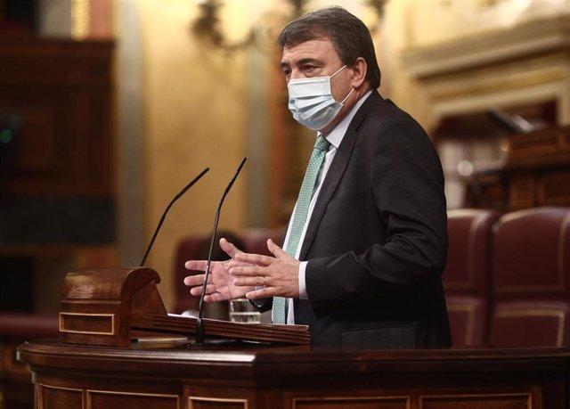 El portavoz parlamentario del PNV, Aitor Esteban, en el Congreso