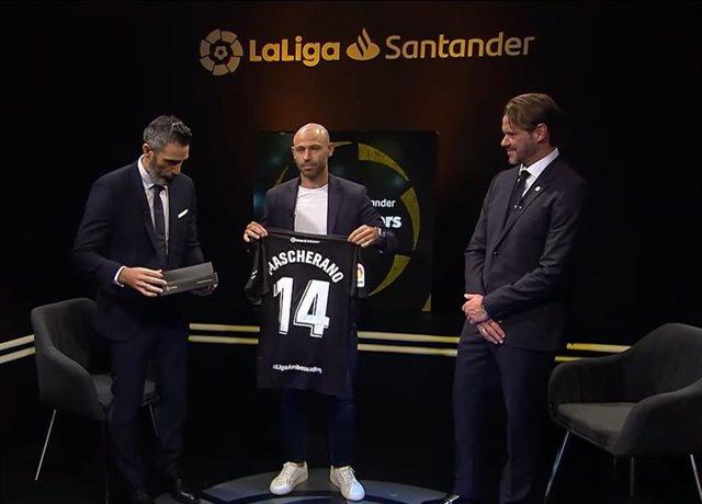 Acto de bienvenida a Javier Mascherano como nuevo embajador de LaLiga Santander