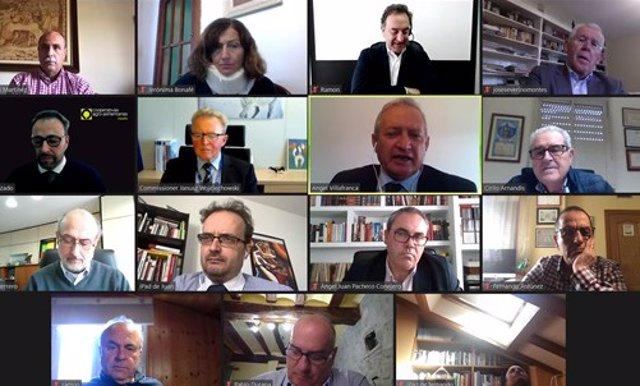 Reunión del  consejo rector de Cooperativas Agro-alimentarias de España con el comisario de Agricultura de la UE, Janusz Wokciechowski