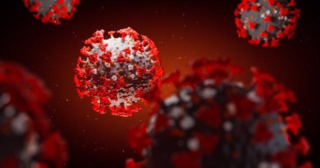 Archivo - 3D illustration, coronavirus, covid-19