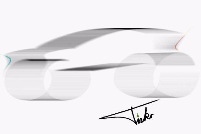 Boceto de un vehículo.