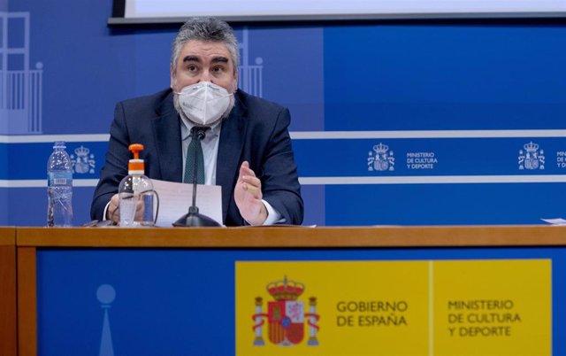 Archivo - El ministro de Cultura y Deporte, José Manuel Rodríguez Uribes.