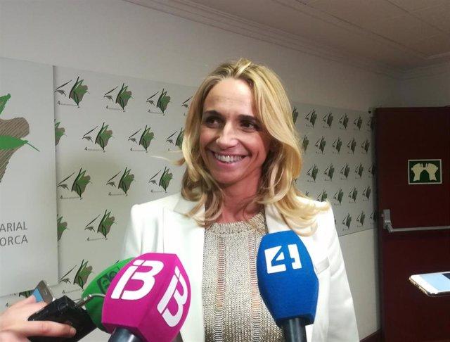 Archivo - La presidenta de la FEHM, María Frontera, en una imagen de archivo