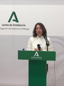 La delegada del Gobierno andaluz en Málaga, Patricia Navarro.