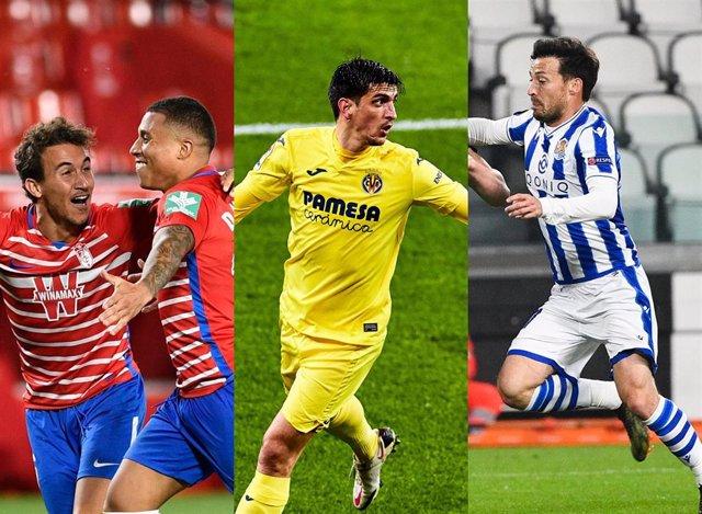 Granada, Villarreal y Real Sociedad en la Europa League