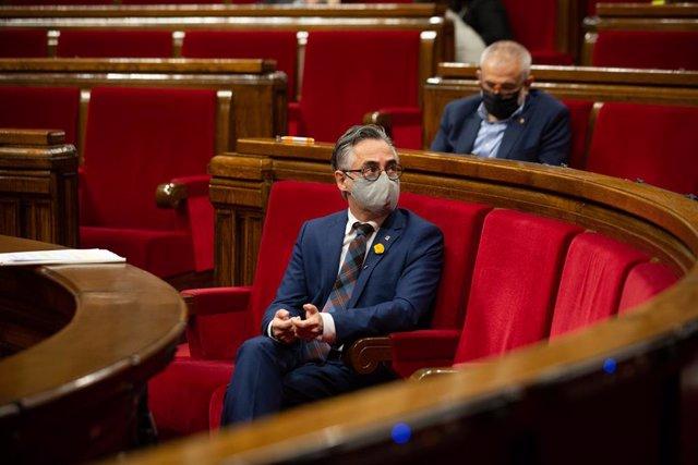 El conseller d'Empresa i Coneixement de la Generalitat, Ramón Tremosa, al Parlament