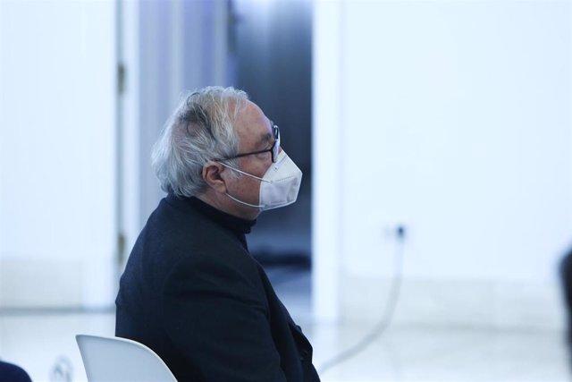 El ministro de Universidades, Manuel Castells, en un acto el pasado 27 de enero