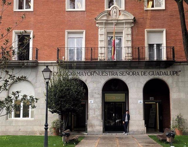Archivo - Fachada del Colegio Mayor Nuestra Señora de Guadalupe situado en la zona de salud básica de Valdezarza, en el distrito de Moncloa-Aravaca, en Madrid (España), a 3 de noviembre de 2020.
