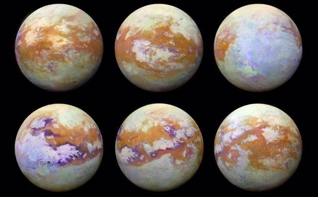 La luna Titán de Saturno