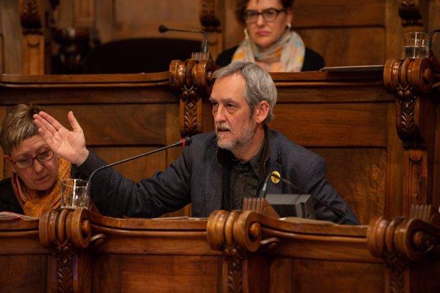 Archivo - Arxiu - El portaveu d'ERC, Jordi Coronas, a l'Ajuntament de Barcelona.