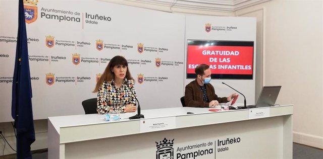 Maite Esporrín y Xabier Sagardoy, concelajes del PSN en el Ayuntamiento de Pamplona