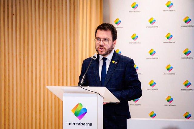 El vicepresidente en funciones de la Generalitat, Pere Aragonès.