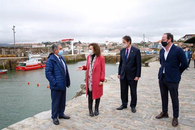 Inauguración de las obras del puerto de Comillas