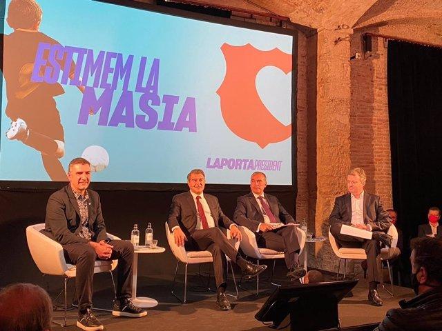 Presentación del programa deportivo de 'Estimem el Barça', candidatura a la presidencia del FC Barcelona que lidera Joan Laporta