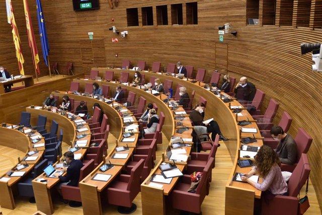 Parte izquierda del plenario de Les Corts