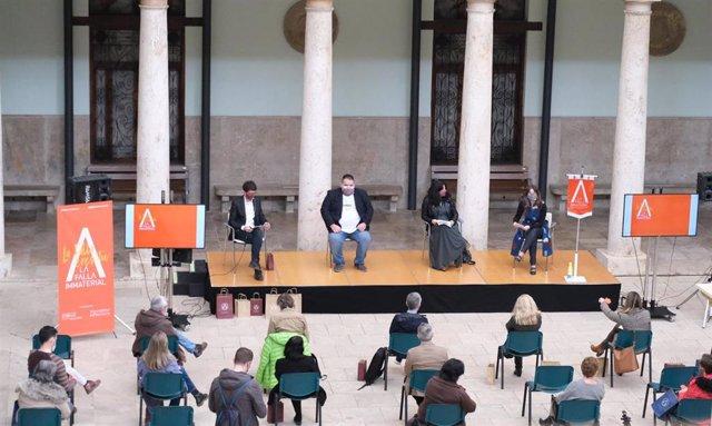 Presentación de la Falla Inmaterial de la Universitat de València 2021