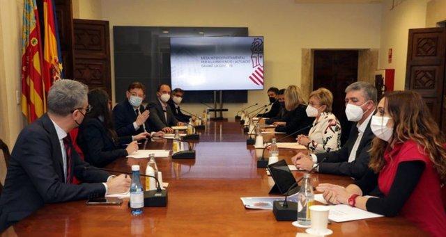 Reunión de la mesa interdepartamental para tratar de la desescalada