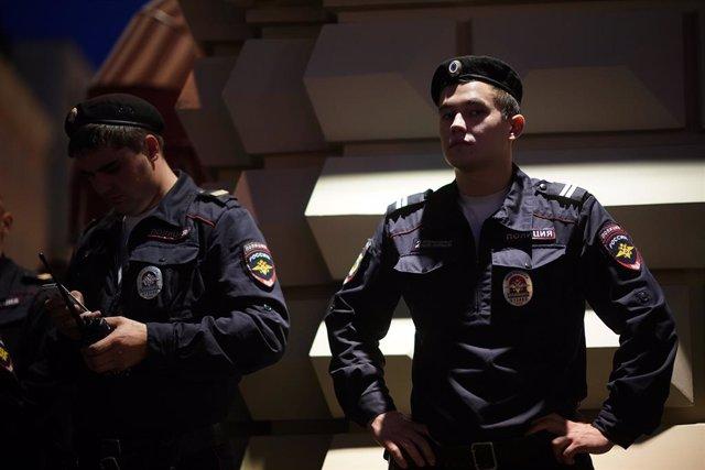 Archivo - Imagen de archivo de la Policía rusa.