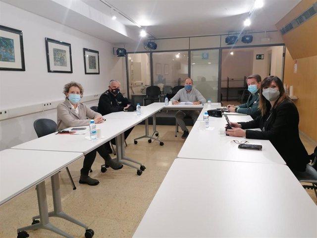Reunión entre la Conselleria de Salud y Delegación del Gobierno sobre la vacunación de COVID-19 de las Fuerzas y Cuerpos de Seguridad del Estado.
