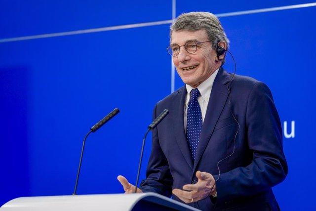 El president del Parlament Europeu, el socialista italià David Sassoli.
