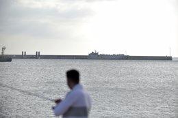 El buque de ganado 'Kharim Allah' atraca en la dár