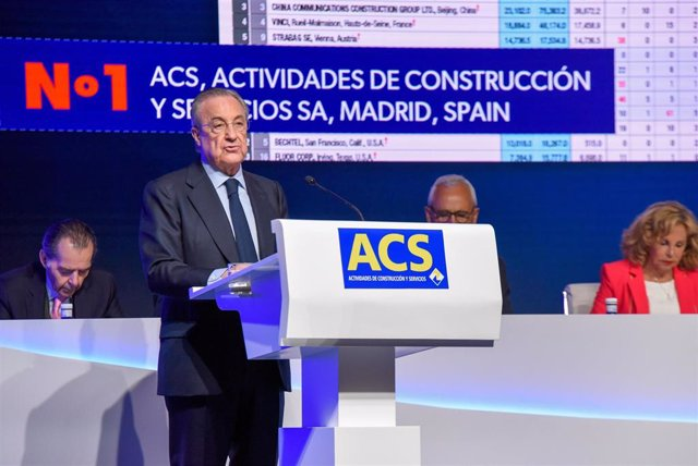 Archivo - El presidente de ACS, Florentino Pérez