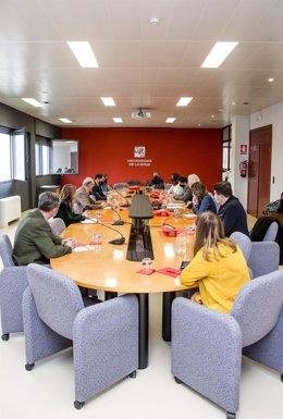 Reunión Ayuntamiento de Logroño con la UR