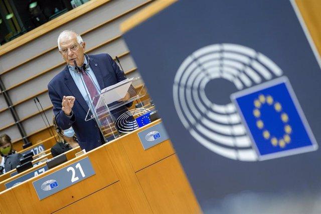 Archivo - Josep Borrell, en el Parlamento europeo en Bruselas en una imagen de archivo.
