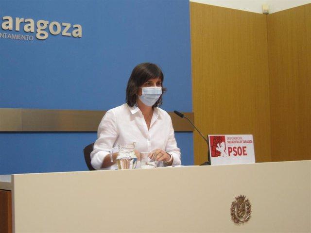 Archivo - La portavoz del PSOE en el Ayuntamiento de Zaragoza, Lola Ranera