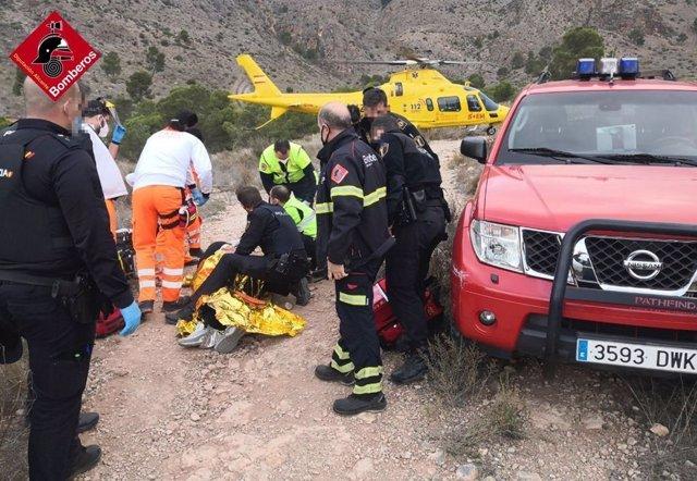 Rescate de un joven en la ruta del Pico del Águila