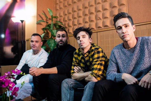 Archivo - La banda Veintiuno en entrevista con Europa Press antes de despedir 2020 con tres conciertos en la Sala Moby