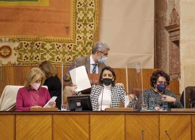 Votación en el Pleno del Parlamento andaluz.