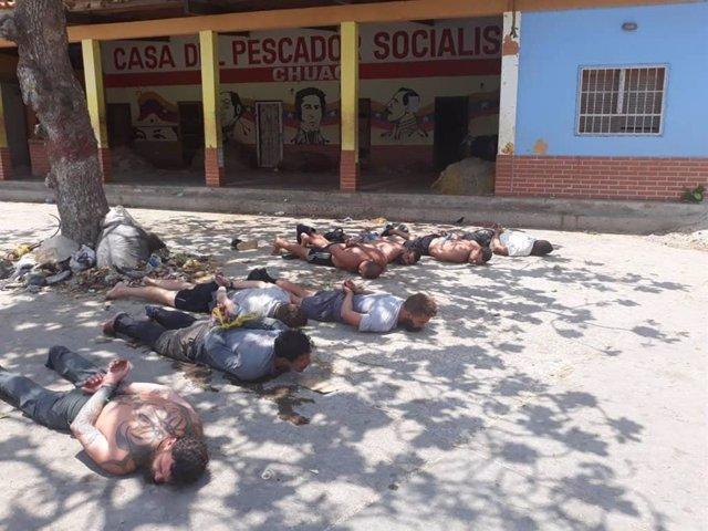 Archivo - Detenidos durante la 'Operación Gedeón'