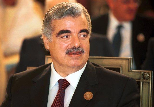 Archivo - El ex primer ministro de Líbano, Rafik Hariri, asesinado en un atentado en 2005 en Beirut