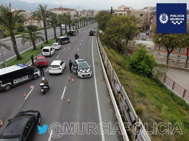 Control desplegado en Murcia