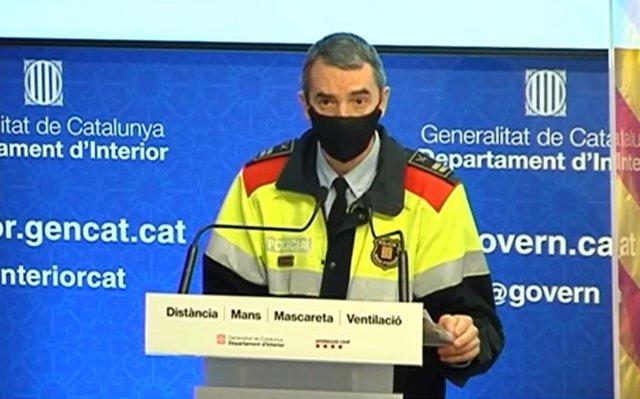 El comisario de Mossos Joan Carles Molinero.