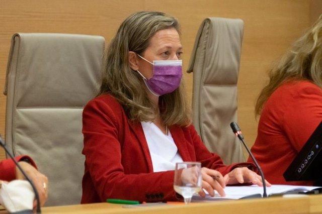Archivo - La delegada del Gobierno contra la Violencia de Género, Victoria Rosell, comparece en la Comisión de Seguimiento del Pacto de Estado de Violencia de Género del Congreso