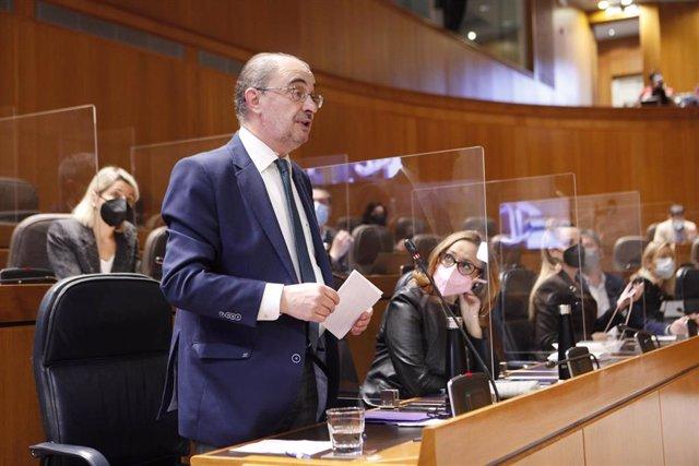 El presidente de la Comunidad Autónoma, Javier Lambán.