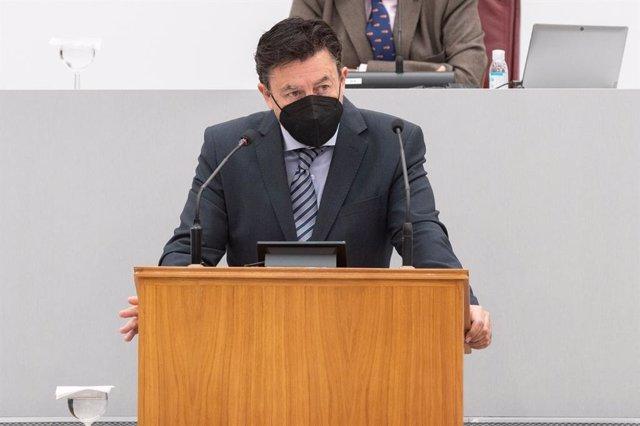 El secretario de Comunicación de la formación de centro, Juan José Molina
