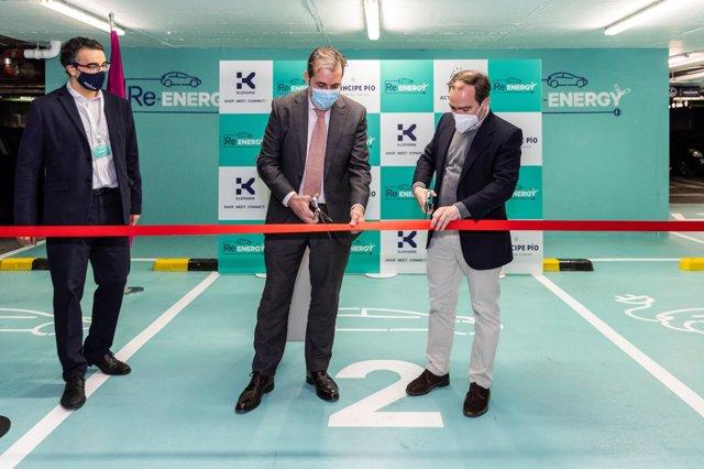 El centro comercial de Príncipe Pío estrena el parque de recarga de vehículos eléctricos más grande de la capital