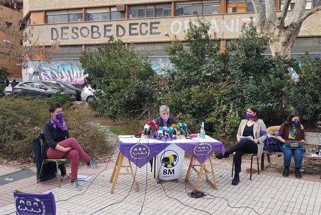 Voceras del movimiento feminista Comisión 8M de Madrid