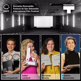 Archivo - Directoras premiadas en la 68 edición del Zinemaldia.