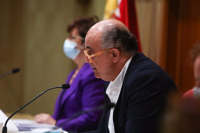 La directora general de Salud Pública, Elena Andradas, y el viceconsejero de Salud Pública y Plan COVID-19 de la Comunidad de Madrid, Antonio Zapatero
