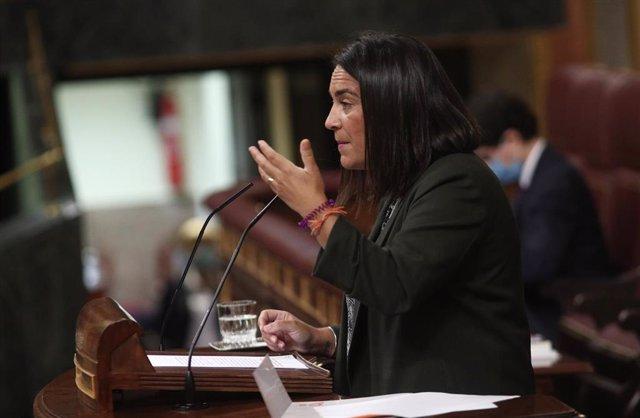 Archivo - La diputada de Ciudadanos, María del Carmen Martínez Granados, interviene en una sesión plenaria en el Congreso de los Diputados
